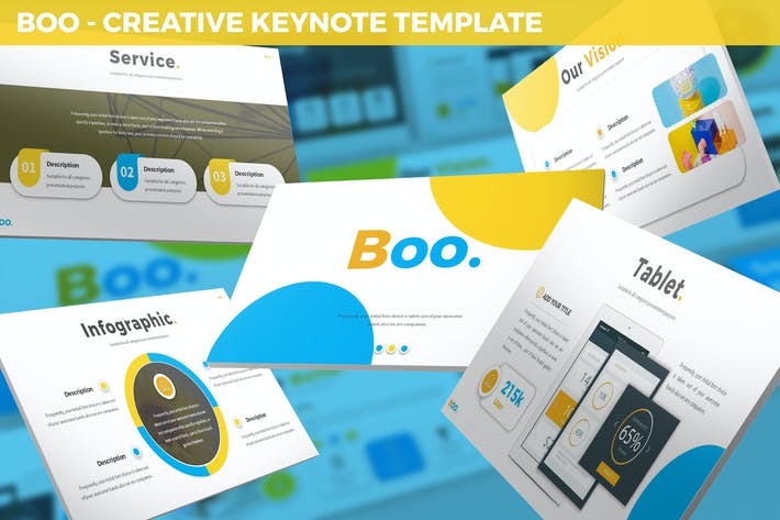 Thumbnail for Boo - Multipurpose Creative Keynote Template