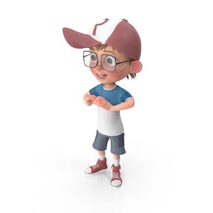 Cartoon Boy Showing Love