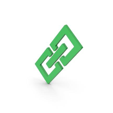 Symbol Glieder/ Kette Grün