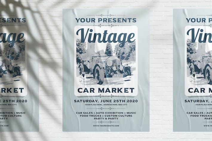 Thumbnail for Vintage Car Market Flyer