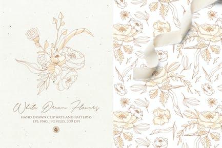 Weiße Traumblumen