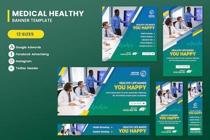 Healthy Hospital Banner Set Template