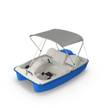 Barco de pedales con dosel