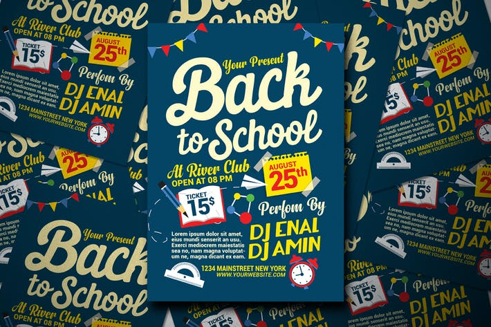 Cover Image For Back To School Flyer Template