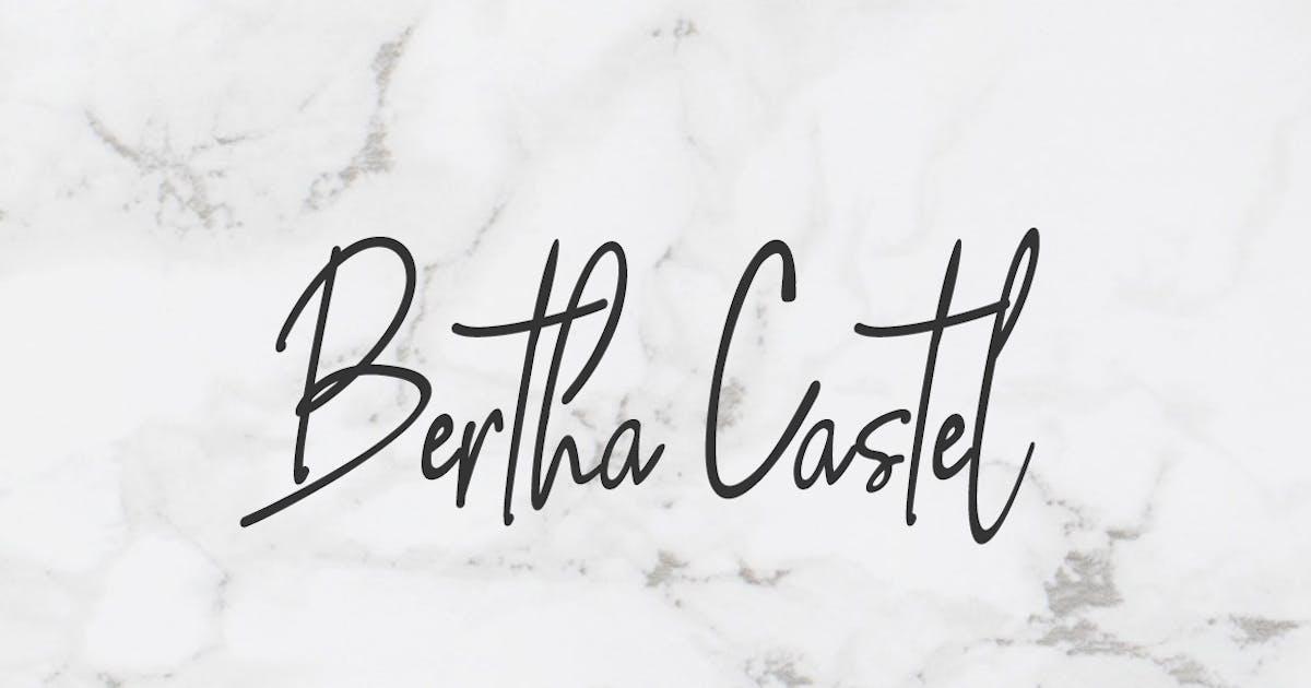 Download Bertha Castel - Handmade Luxury / Signature Font by designova