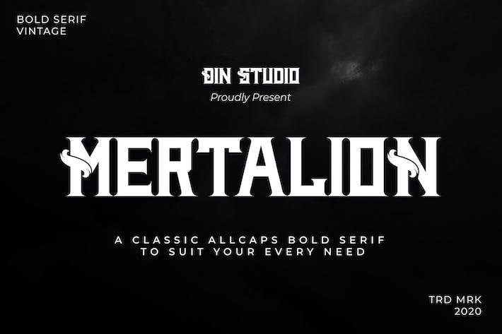 Thumbnail for MERTALION - VINTAGE SERIF