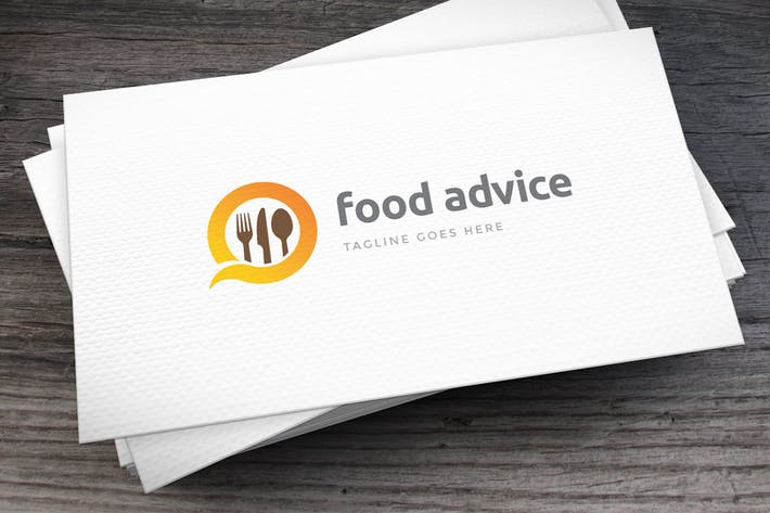 Thumbnail for Food Advice Logo Template