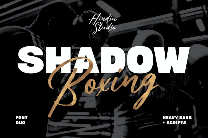 Cover Image For Shadow Boxing Font Duo