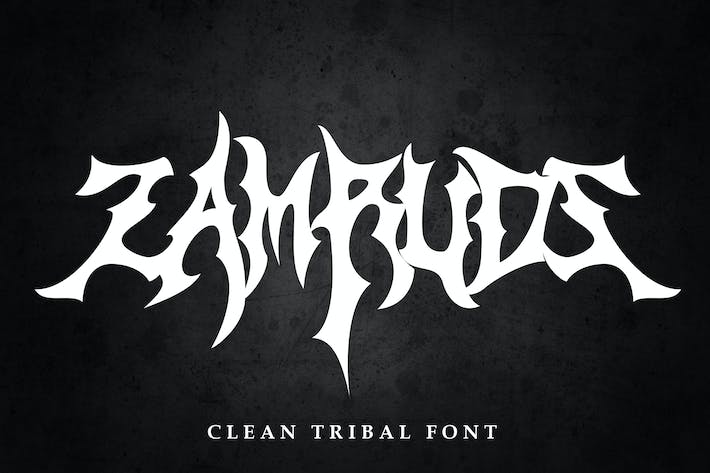 Thumbnail for Zamruds - Tribal Font