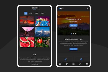 Auri - Eine moderne Vorlage für Mobilgeräte
