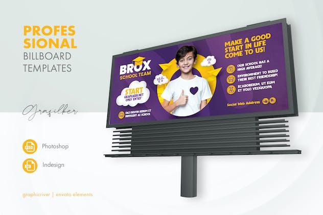 Kids School Billboard Templates