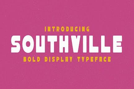 Southville - Tipo de letra de visualización en negrita
