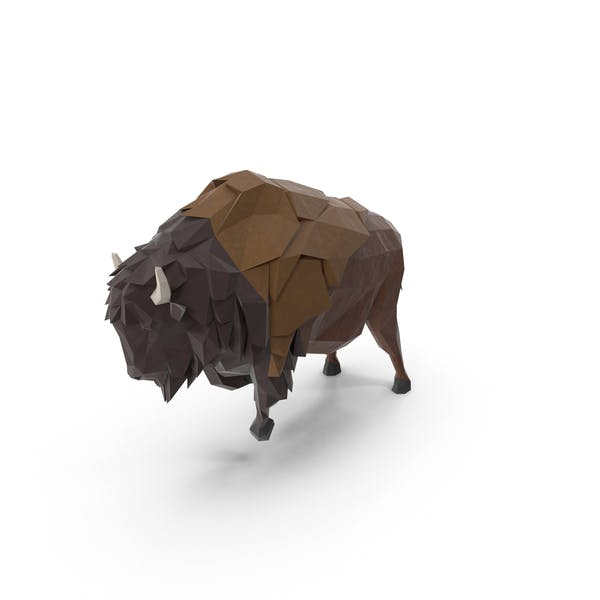 Thumbnail for Low Poly Buffalo