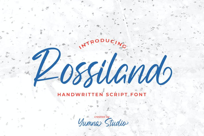 Thumbnail for Rossiland-Beautiful Handwritten Font