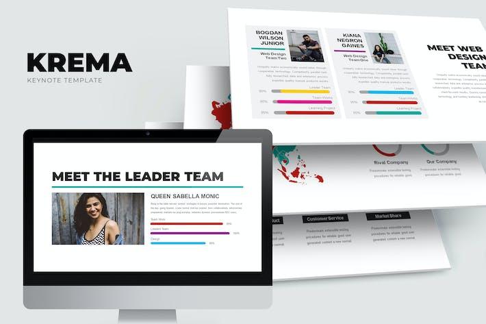 Thumbnail for Krema : Creative Keynote Template