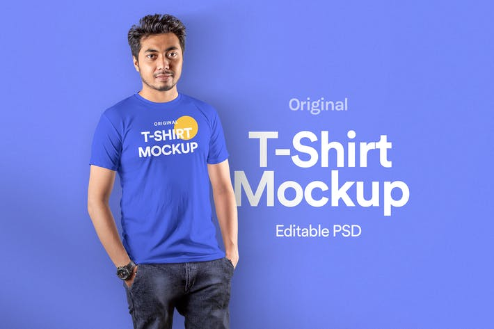 Thumbnail for T-Shirt Mockup - Vol 19