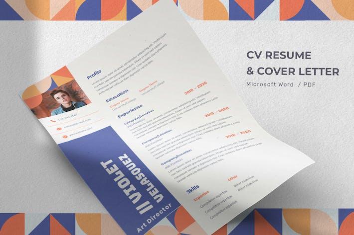 Thumbnail for Violet Velasquez - CV Resume Template