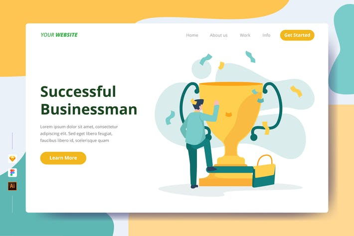 Thumbnail for Successful Businessman - Landing Page