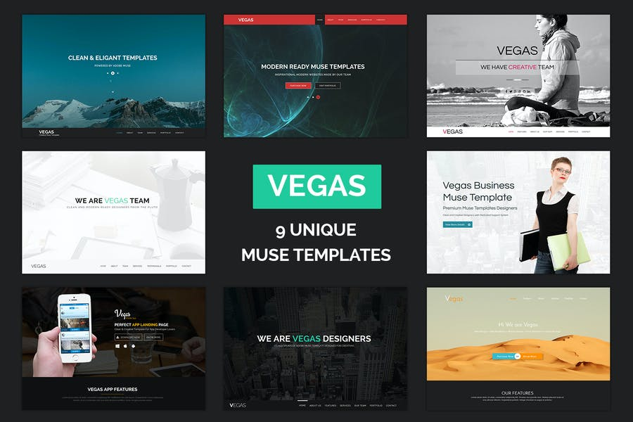 Vegas - многоцелевые Шаблоны муз одной страницы