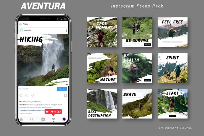 Cover Image For Aventura - Instagram Feeds Pack