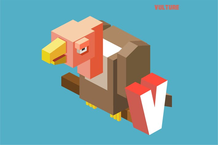 Thumbnail for V for vulture. Animal Alphabet