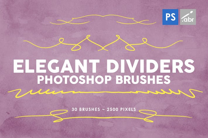 Thumbnail for 30 Elegant Dividers Photoshop Stamp Brushes