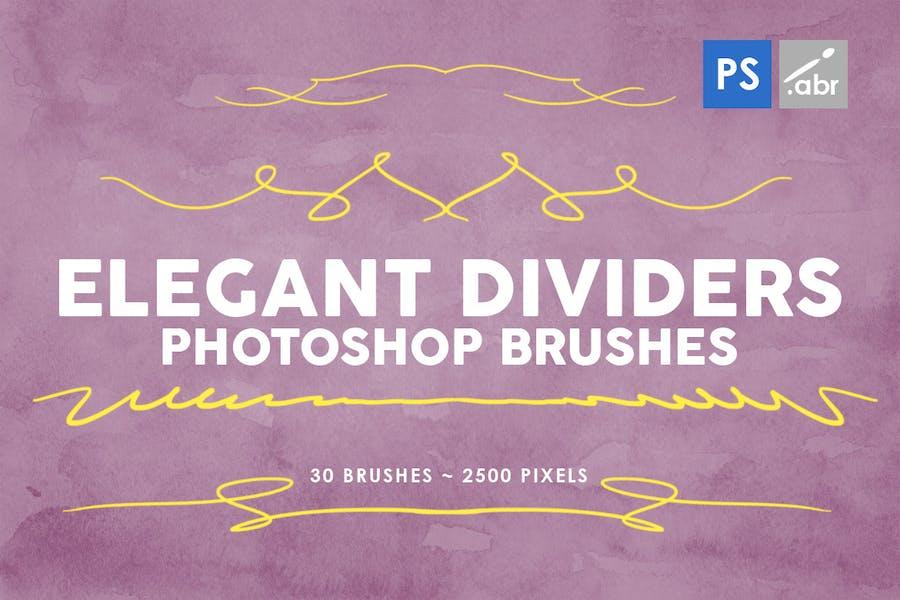 30 Elegant Dividers Photoshop Stamp Brushes