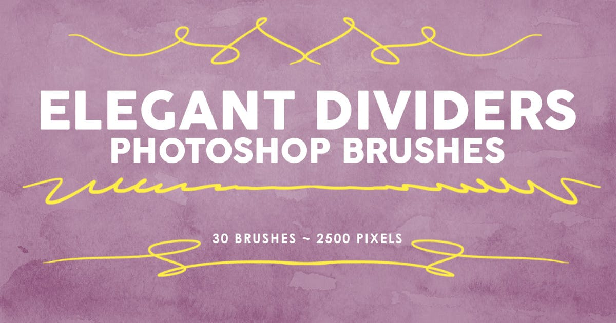 Download 30 Elegant Dividers Photoshop Stamp Brushes by M-e-f