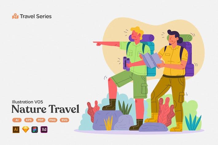 Thumbnail for Reise-Illustration V05 Naturabenteuer