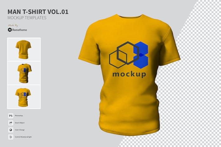 Thumbnail for Herren-T-Shirt - Mock-ups VR