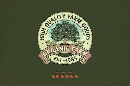 Vintage Farm Hand Drawn Logo