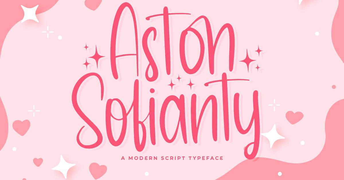 Download Aston Sofianty - Handwritten Font by StringLabs
