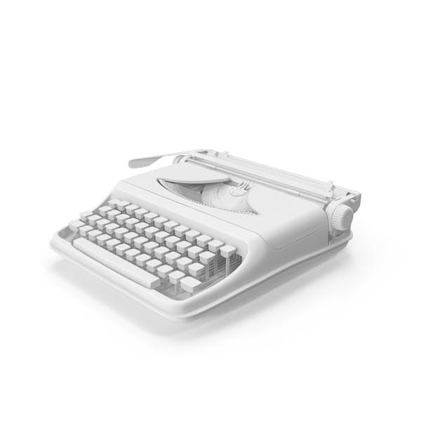 Máquina de escribir Vintage monocromática
