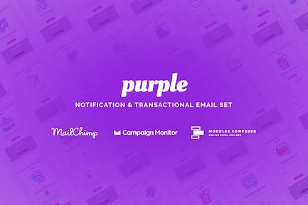 Purple - Notification Email Templates