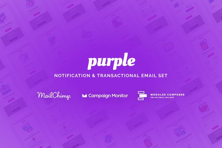 Thumbnail for Purple - Notification Email Templates