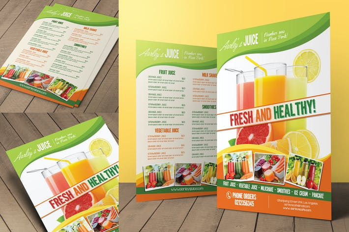 Thumbnail for Fruit Juice Menu Flyer