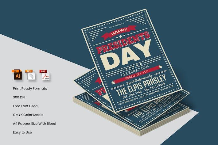 Thumbnail for President's Day Flyer Template