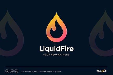 Flame Liquid Fire Logo Template