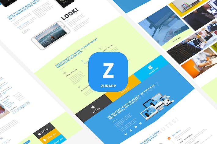 Thumbnail for ZurApp - Multiconcept App Showcase Template