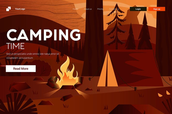 Thumbnail for Flat Modern design Illustration of Camping