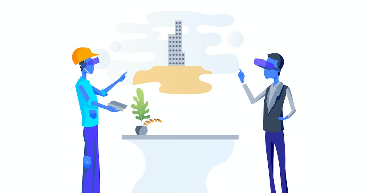 Download VR Tech support Architecture Illustration by angelbi88