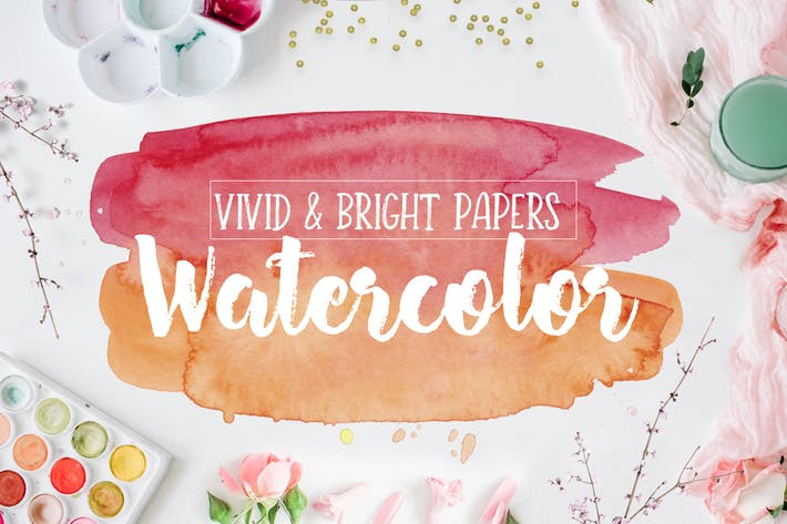 Thumbnail for Vivid & Bright Watercolor Textures