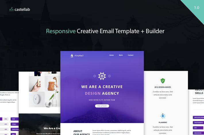 Thumbnail for FireMail - Responsive Email Template + Builder