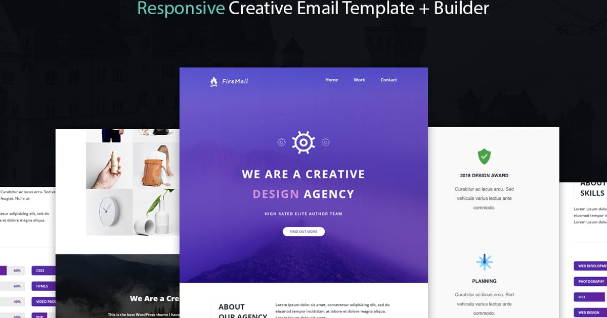Download FireMail - Responsive Email Template + Builder by CastelLab