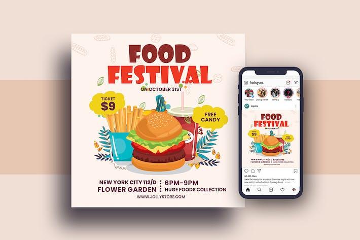 Thumbnail for Food Festival Square Flyer & Instagram Post