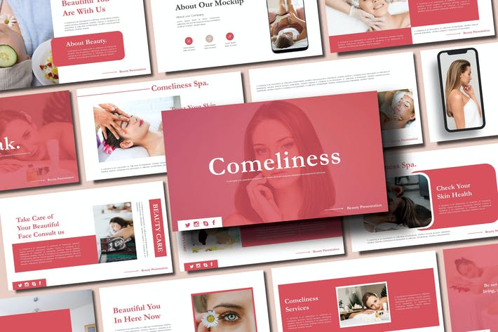Thumbnail for COMELINESS SPA - Google Slides Template