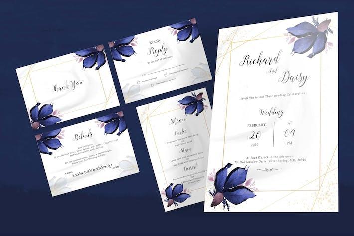 Thumbnail for Blumenhochzeit Einladungsset