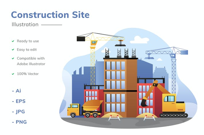 Thumbnail for Construction Site Illustration