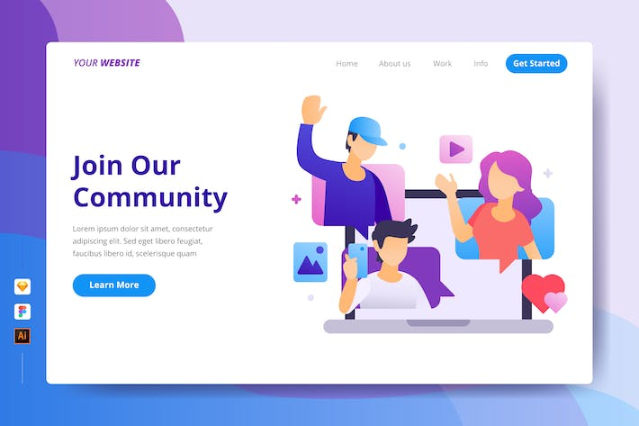 Thumbnail for Join Our Community - Landing Page