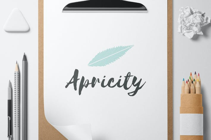Cover Image For Apricity logo template